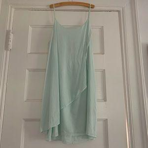 Alice and Olivia slip dress Aqua silk,